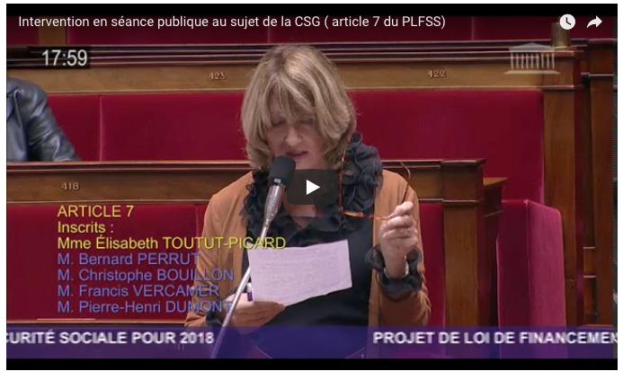 Intervention Sur L Article 7 Du Plfss Au Sujet De La Csg Et De Son